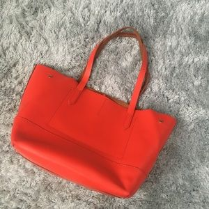 J.Crew bright red uptown tote